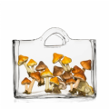 Glass Shopper Centrepiece Bag | Solavia Fine Glassware